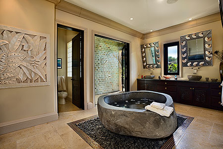 Freestanding River Rock Granite Bath 220 Cm X 100 Cm X 62 Cm